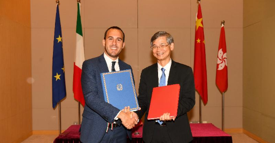 Italy and Hong Kong signed an agreement to mark the establishment of a bilateral Working Holiday Scheme (WHS)